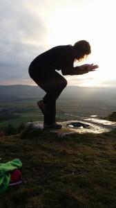 yoga eagle posture
