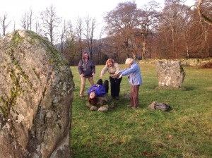 sacrifice, sacrificial lamb, stone circle, megalithic, Kinnell stone circle, Killin, Perthshire, footprintmaps