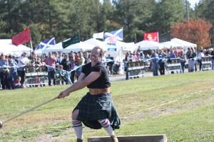 Highland Games hammer throw Scotland