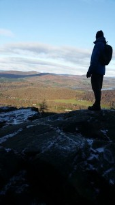 Looking over to Birnam and Dunkeld, separated by the Silvery Tay