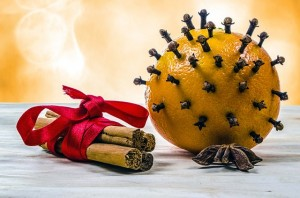 Christmas decoration, oranges, cloves, cinnamon, Xmas
