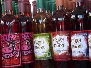 Cairn O'Mohr fruit wines, one of the products sold at Perth Farmers Market