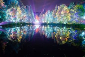 Sound and light show The Enchanted Forest, Faskally Wood, Pitlochry, Perthshire