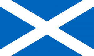 the Saltire, the Scottish flag