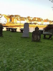 Light on Anstruther from the Churchyard