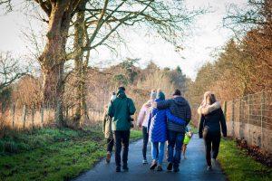 Dunbarney Estate, Bridge of Earn, Perthshire new years walk