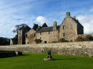 Aberdour Castle, Abbey of Ste. Anne de Beaupré in Outlander