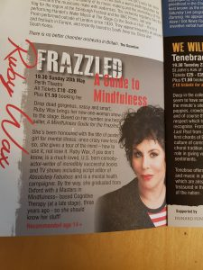 Ruby Wax: Frazzled, A Guide to Mindfulness at The Perth Festival of the Arts