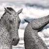 The Kelpies at the Castle